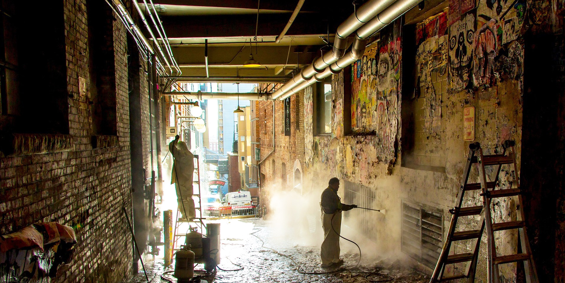 Hard Surface Graffiti Cleaning